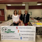 Charlene Lee, Carla Angevine, and Linda Miklos, of Fit Together's Youth and Families Subcommittee, at the 5210 Tables
