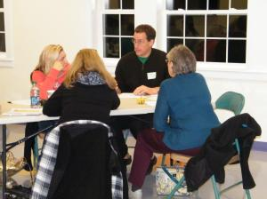 Fit Together member Michael Curi, MD, facilitating group on strategies to talk to parents. Photo credit Tim LeBouthillier